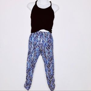 French Laundry | Printed Gym Pants Capris Small
